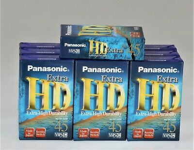 Panasonic Extra HD EC-45 VHSC Blank Video Tapes Cassettes Brand New Compact VHS
