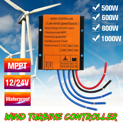 500/600/800/1000W 12/24V MPPT Wind Turbine Charge Controller Waterproof IP67