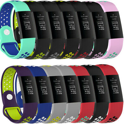 Sport Silicone Wristwatch Band For Fitbit Charge 3 Bracelet Strap Replacement
