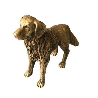 China Pure Brass Prosperous Wealth Dog Small Statue Solid Brass Dog Hand Pi Y3M6