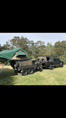 Off road trailer with tent