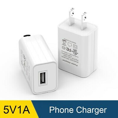 US Plug USB Wall Power Adapter AC100-240V DC 5V 1A Home House Charging Charger