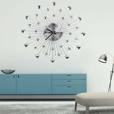 Luxury Aluminum Diamonds Large Dial Silent Wall Clock For Office House Bedroom