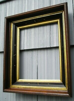 Antique Victorian Deep Wood Eastlake Carved with Gold Gilt Picture Frame 10 x 12