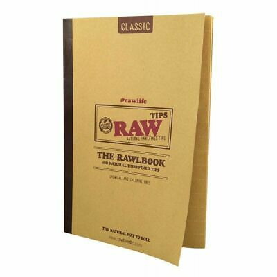 RAW Classic The RAWLBOOK Rolling Tips - 1 Book- Pure Natural 480 Tip Per Book