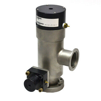 MKS 93-3608 High-Vacuum Right Angle Two-Stage Pneumatic Valve (9731414046)