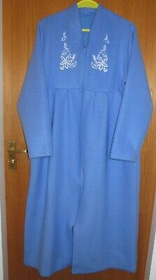 Pink or Blue Sizes 8//10-16//18. Ladies Waffle Wrap Over Dressing Gown//Robe