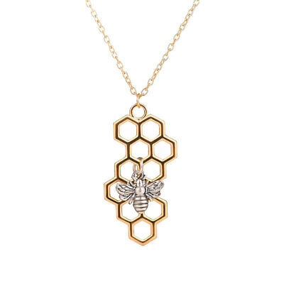 Charm Fashion  Gold Necklaces for Women Girl Heart Honeycomb Bee Animal #4