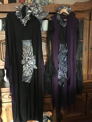Fantasy fancy dressing up partyware. Dragon Lord And Queen Outfits Adult size