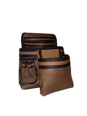 Leather Craft Professional 4 Pocket Oiltan Tool Pouch Heavy Duty