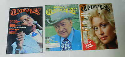 Lot of 4 Country Music Magazine 1972 1973 1977 2003 Dolly Parton Charley Pride