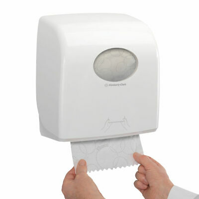 NEW! Aquarius Large Roll Rolled Hand Towel Dispenser White 7375