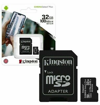 LATEST Kingston Micro SD SDHC 32GB Memory Card Class 10 SD SEALED PACK