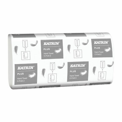NEW! Katrin C-Fold Plus Hand Towels 2-Ply White Pack of 2400 344388