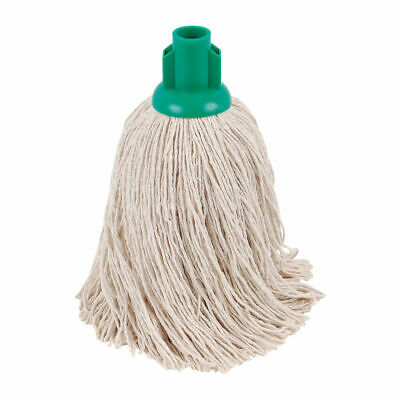 NEW! 2Work Twine Rough Socket Mop 14oz Green Pack of 10 101855G