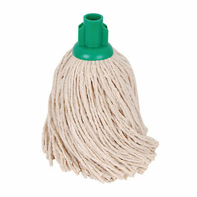 NEW! 2Work PY Smooth Socket Mop 14oz Green Pack of 10 103178G