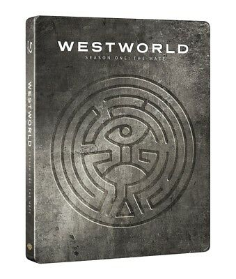 Westworld Complete First Season Steelbook 3-Disc Blu Ray + Booklet (Region Free)