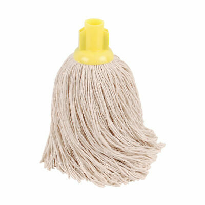 NEW! 2Work Twine Rough Socket Mop 14oz Yellow Pack of 10 101855Y