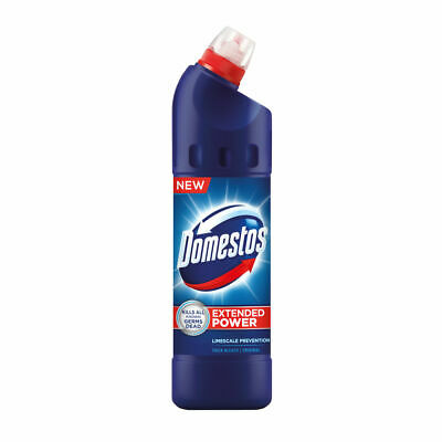 NEW! 9 x Domestos Thick Bleach 750ml Concentrated thick liquid to kill germs 100