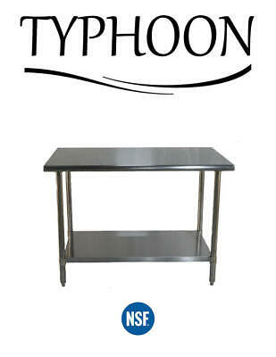 "Stainless Steel Commerical Counter Work Table Adjustable Undershelf 72"" x 30"""