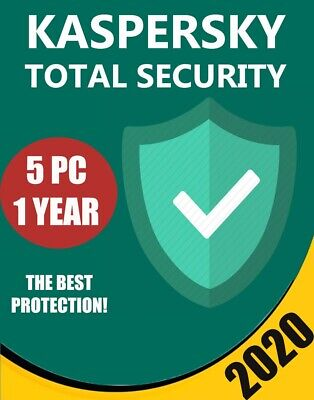 Kaspersky Total Security 2020 5 PC Devices 1 year BEST PROTECTION ANTIVIRUS