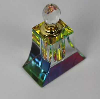 Vintage Pyramid Glass Crystal Perfume Bottle Refillable Wedding Empty Gifts 3ml