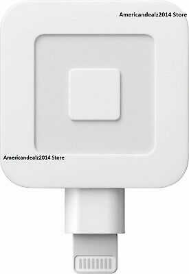 Square - Magstripe Reader with Lightning Connector - Glossy White- NEW FASTSHIP