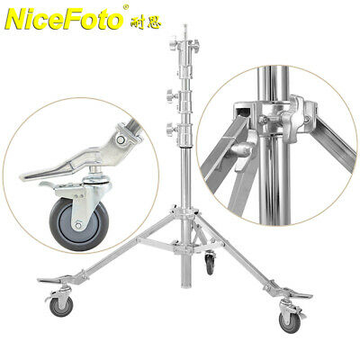 Nicefoto LS-3000S Stainless Steel Light Stand Photographic Stand Tripod + Wheels