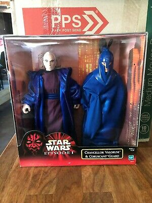 Star Wars Episode 1 CHANCELLOR VALORUM and CORUSCANT GUARD 12 Inch Figure MIB