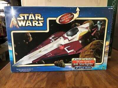 Star Wars Attack of the Clones Vehicle OBI WAN KENOBI'S JEDI STARFIGHTER