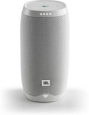 JBL Link 10 voice-activated portable bluetooth speaker (white)