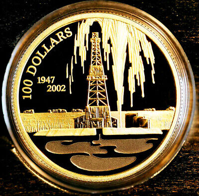 2002 Canada Oil Discovery Leduc Alberta $100 commemorative 14K gold MINT SEALED