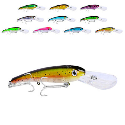 Plastic Fishing Lures Crankbaits Hooks Minnow Baits Tackle Crank Tools 2019