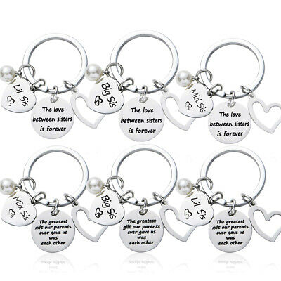 Stainless Steel Sisters Keyring Best Friends Birthday Gifts Friendship Present