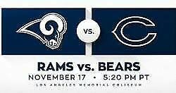 4 Tickets Chicago Bears vs Los Angeles RAMS 11/17 Section 226 row 20