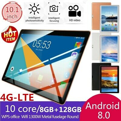 10.1 pollici 8GB+128GB Tablet PC bluetooth Android 8.0 10 Core WIFI 2 SIM 4G-LTE