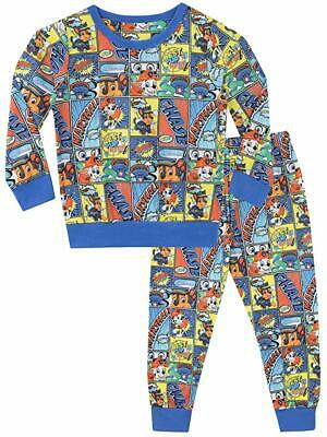 Boys Paw Patrol Fleece Pyjama Set Pjs Nightwear Warm Character Twosie Kids Gift