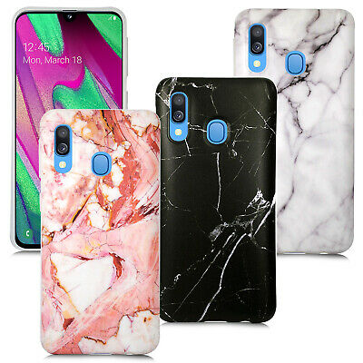 For Samsung Galaxy A70 A50 A40 S10 Case Gel Silicone Cover Marble Print Stylish