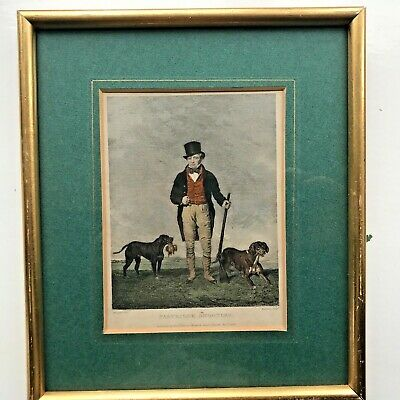 "Framed Coloured print-""Partridge Shooting"" Published by M A Pttman Dec 1st 1832"
