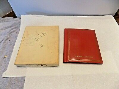 Vintage Red Telephone And Address Book Made In Japan Never Used