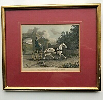"Framed Coloured print-J.S.W.S.E Drax esq Charborough Park. ""Driving to Cover"""