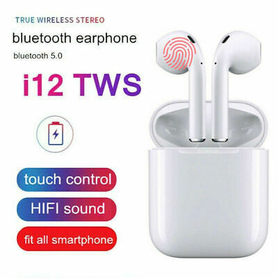 i12 TWS Wireless Earbuds Bluetooth 5.0 Earphones Headphones for iPhone Android