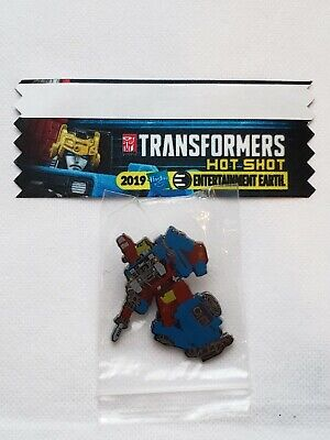 Transformers Hot Shot NYCC 2019 Entertainment Earth Exclusive Pin & Sticker Set