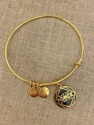 Disney Alex and Ani Star Wars May The Force Be With You GOLD Bangle Bracelet
