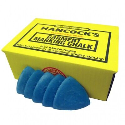 Hancock's Garment / Fabric Marking Tailors Chalk Triangles Blue - Pack of 12