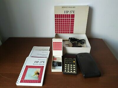 Working HP-37E Calculator in Box Complete plus Manuals