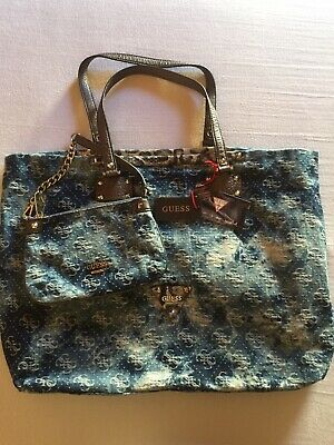 ORIGINAL GUESS TOTE Tasche Shopper Neu Mit Clutch EUR 55