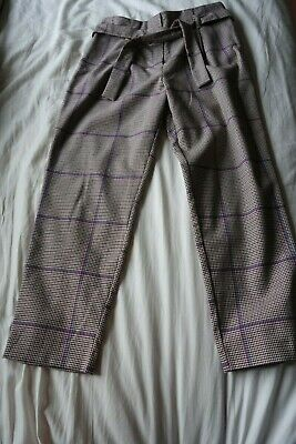 River Island  check pattern  trousers age 10 .