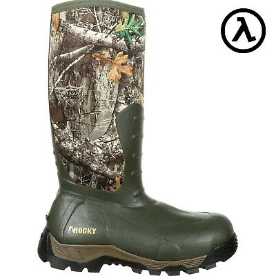 Rocky Sport Pro Rubber 1200G Insulated Wp Side-Zip Boots Rks0382 - All Sizes