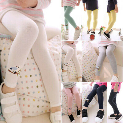 Child Baby Kids Girls Cotton Cute Birds Stretchy Pants Leggings Trousers Fashion